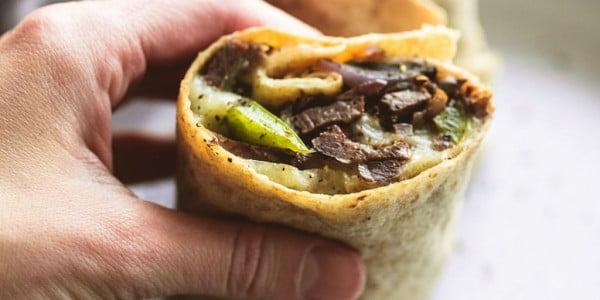Philly Cheesesteak Wraps #recipe #wrap #dinner #snack