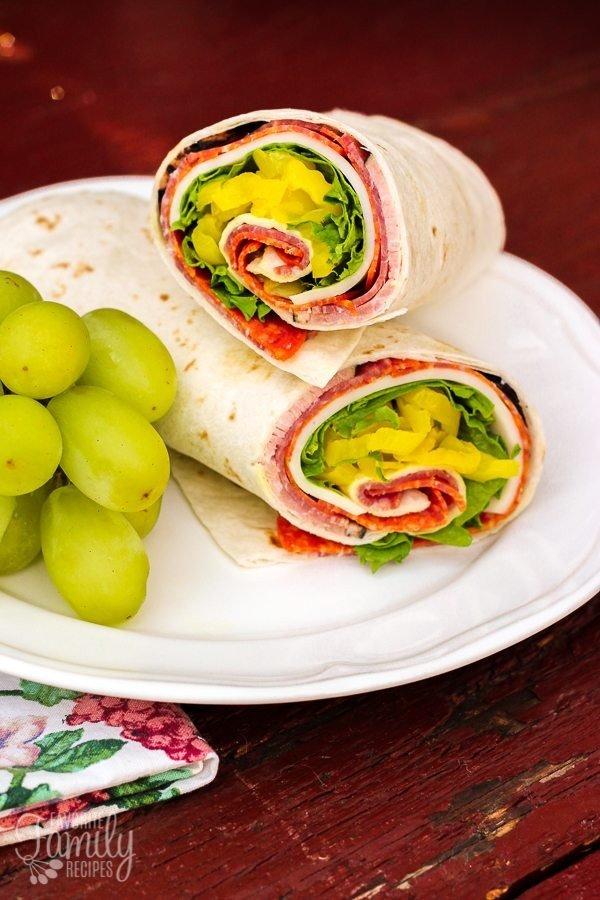 Zesty Italian Lunch Wrap #recipe #wrap #dinner #snack