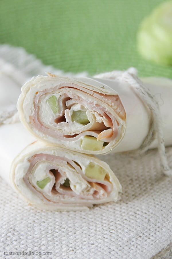 Cucumber Ranch Turkey Tortilla Wrap Recipe - Taste and Tell #recipe #wrap #dinner #snack