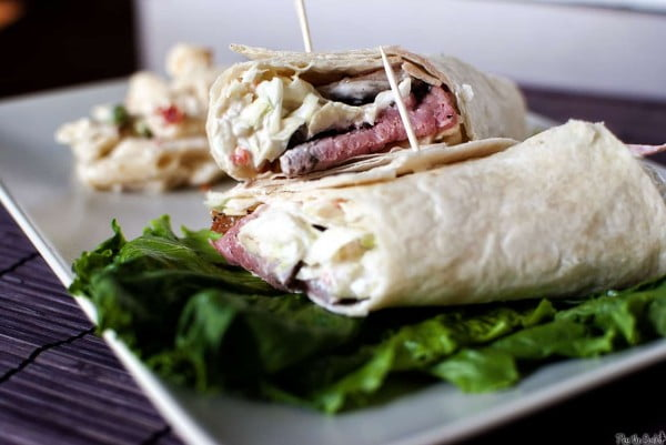 Roast Beef Wrap with Dill Slaw - Pass The Sushi #recipe #wrap #dinner #snack