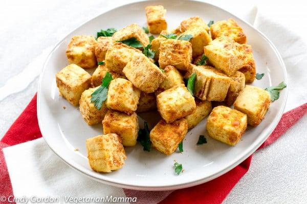 The Best Air Fryer Tofu #airfryer #dinner #food #recipe