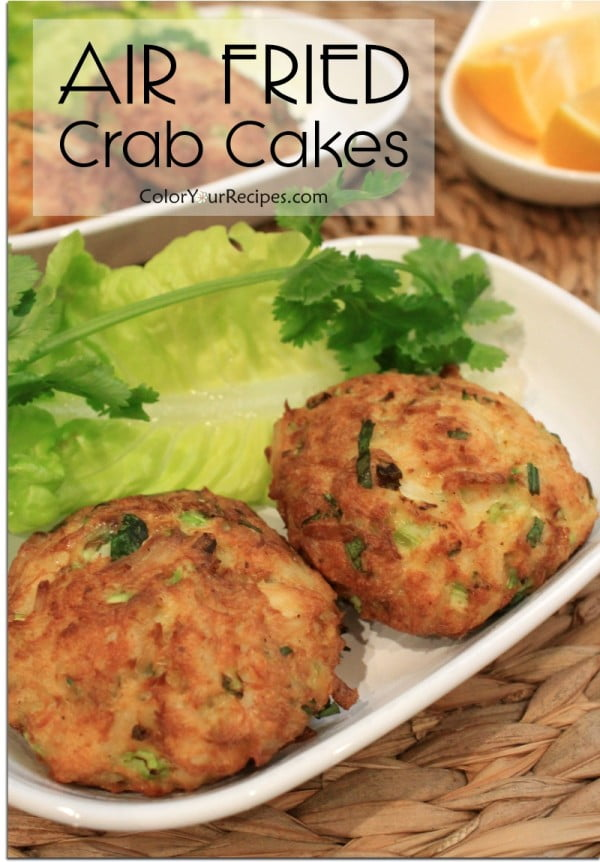 Healthy Version of Crab Cake with Air Fryer • Color Your Recipes #airfryer #dinner #food #recipe