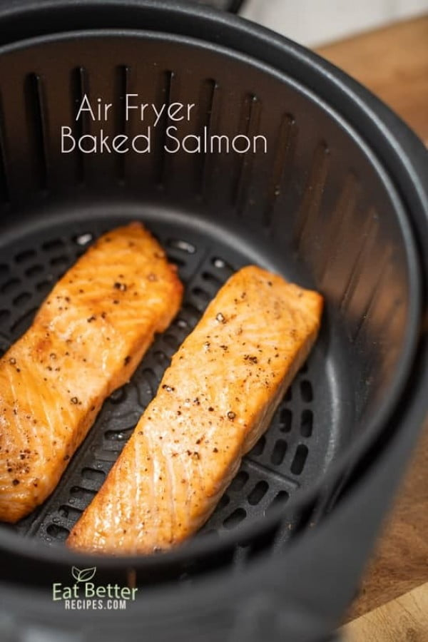 Healthy Air Fryer Baked Salmon with Less Oil #airfryer #dinner #food #recipe