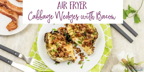 Air Fryer Cabbage Wedges with Bacon #airfryer #dinner #food #recipe