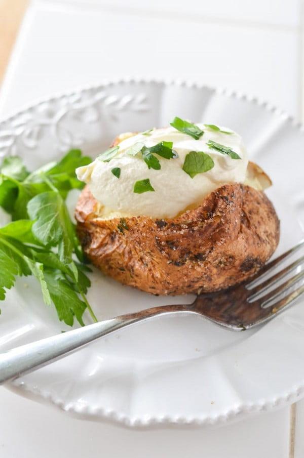 Air Fryer Baked Potato #airfryer #dinner #food #recipe