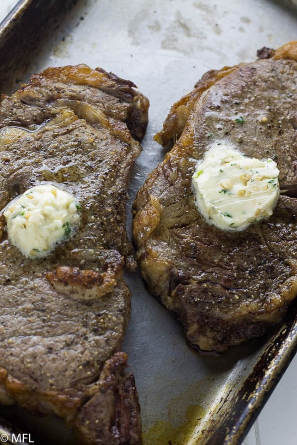 Perfect Air Fryer Steak with Garlic Herb Butter #airfryer #dinner #food #recipe