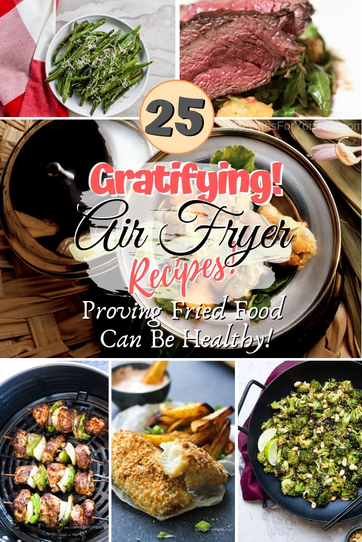 Make healthy fried food with these terrific air fryer recipes. Great list! #airfryer #food #dinner #recipe