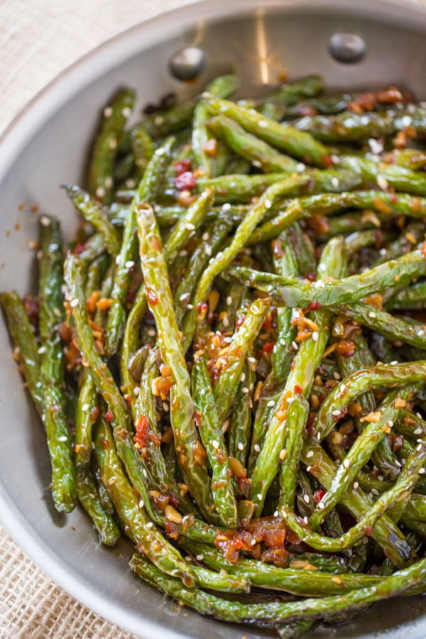 Spicy Chinese Sichuan Green Beans #asianfood #dinner #recipe