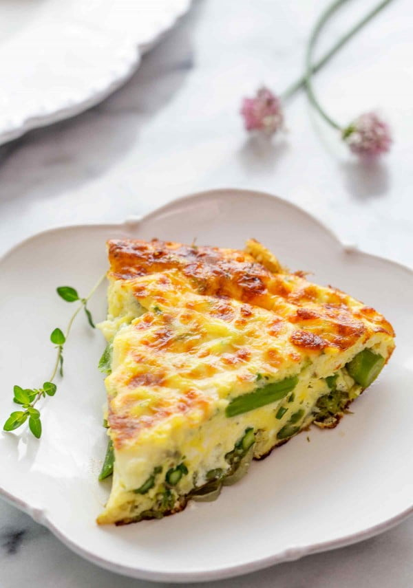 Asparagus Frittata Recipe #asparagus #sidedish #dinner #recipe #food