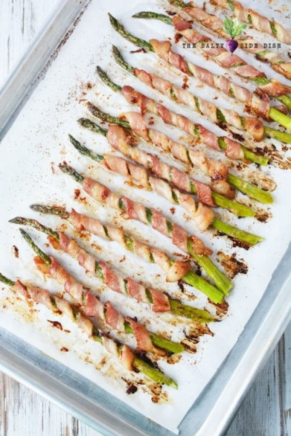 Bacon Wrapped Asparagus Oven Baked #asparagus #sidedish #dinner #recipe #food