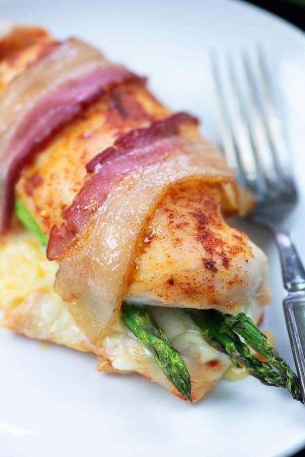Asparagus Stuffed Chicken #asparagus #sidedish #dinner #recipe #food
