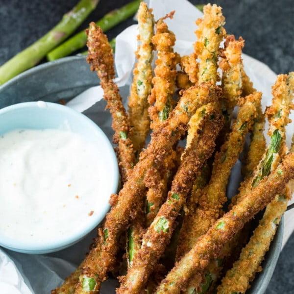 Fried Asparagus #asparagus #sidedish #dinner #recipe #food