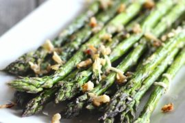 Garlic Parmesan Roasted Asparagus #asparagus #sidedish #dinner #recipe #food