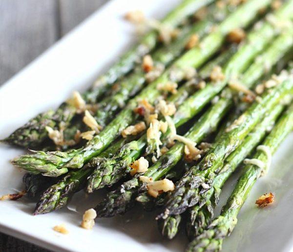 Garlic Parmesan Roasted Asparagus #asparagus #sidedish #dinner #recipe #food