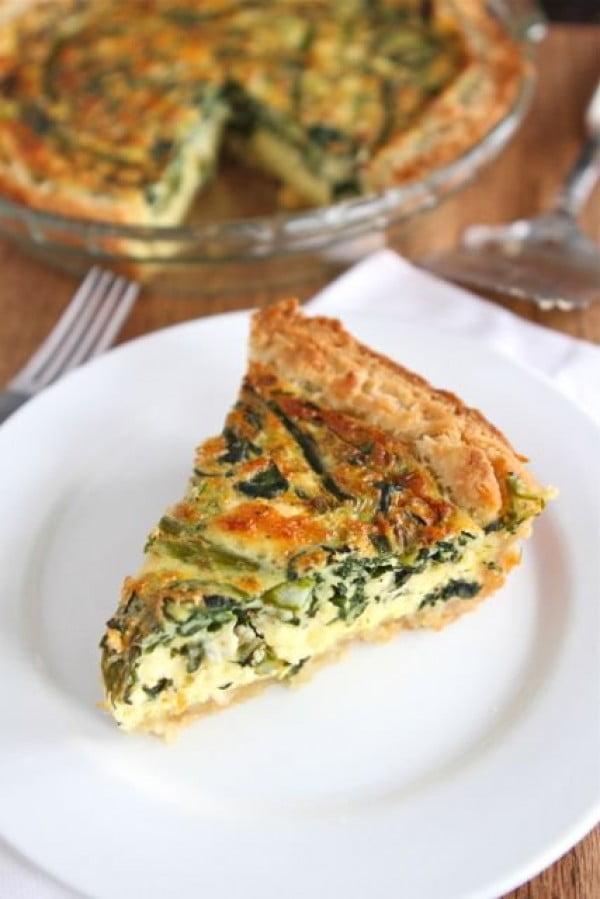 Asparagus Quiche Recipe #asparagus #sidedish #dinner #recipe #food