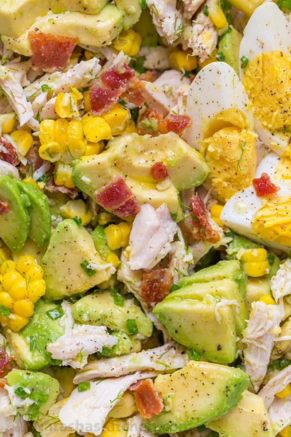 Avocado Chicken Salad Recipe (VIDEO) #avocado #recipe #food #dinner