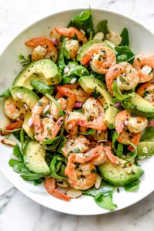 Citrus Shrimp and Avocado Salad #avocado #recipe #food #dinner