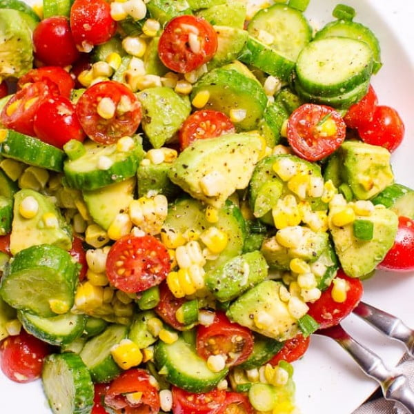 Corn Avocado Salad #avocado #recipe #food #dinner