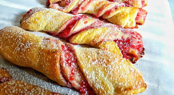Raspberry Twists inspired by Maurice's Treats at Disneyland Park #berries #dessert #recipe