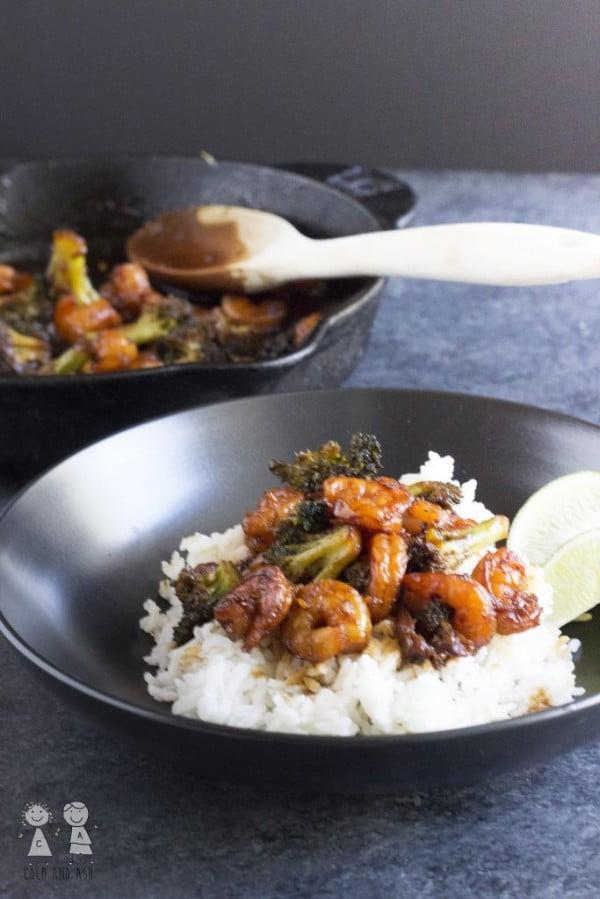 Honey Lime Shrimp and Broccoli #recipe #broccoli #dinner #food