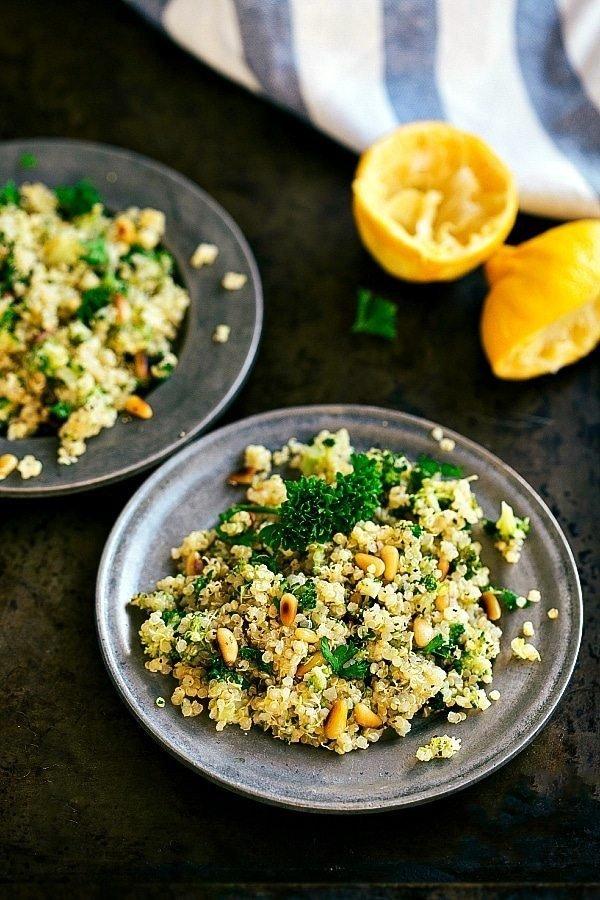Pine Nut Broccoli Quinoa #recipe #broccoli #dinner #food