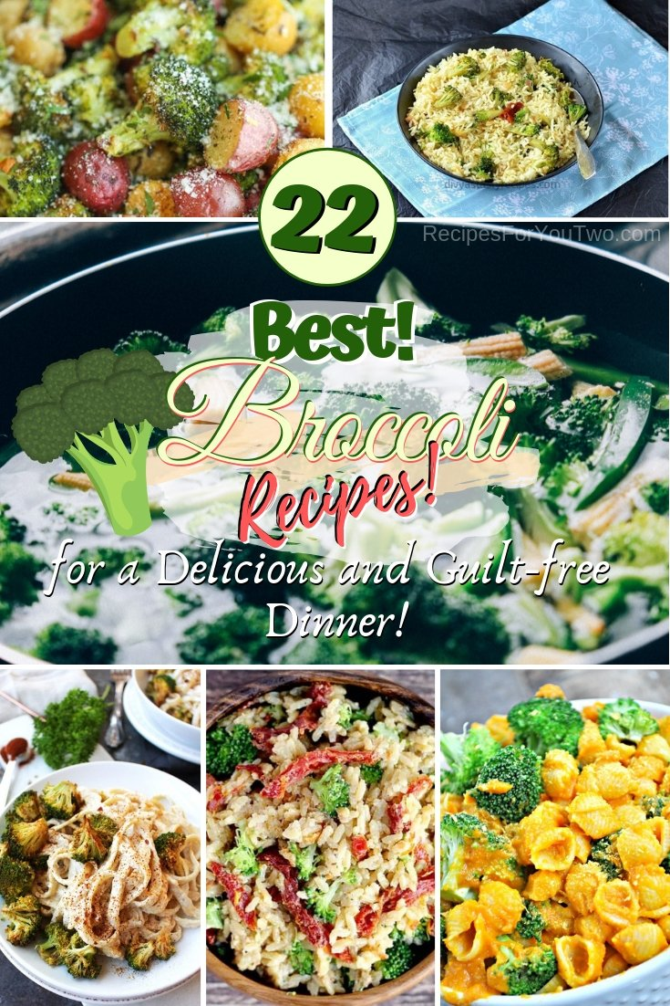 Enjoy a healthy delicious and guilt-free dinner from broccoli. These are great recipes! #recipe #dinner #broccoli #food