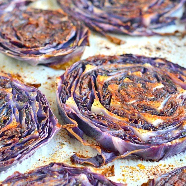 Roasted Purple Cabbage #cabbage #dinner #recipe #food