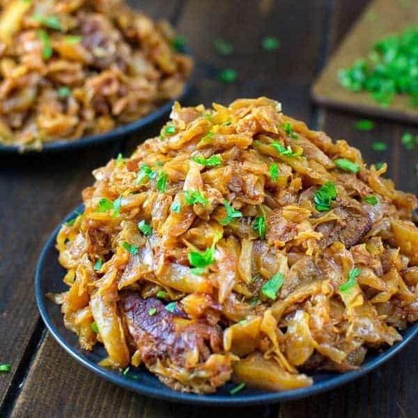Cabbage with Ribs #cabbage #dinner #recipe #food