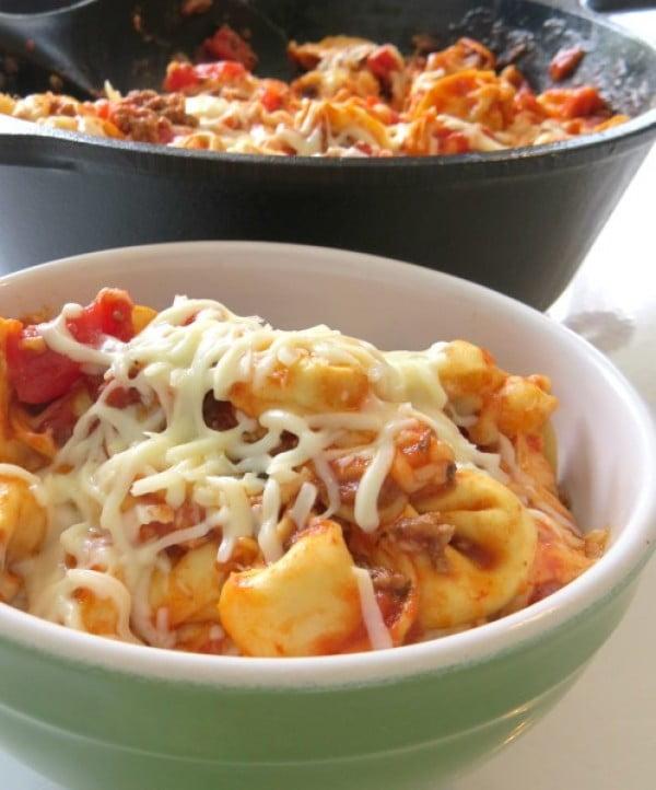 Baked Tortellini Casserole #recipe #casserole #dinner