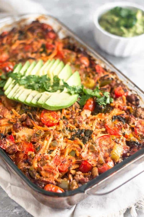 Beef Taco Casserole (Paleo/Whole30) #recipe #casserole #dinner