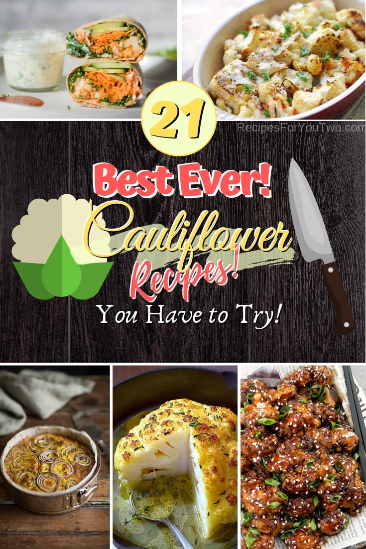 You need to add these cauliflower recipes to your rotation for vegetarian main courses and healthy side dishes. Great list! #cauliflower #recipe #dinner #food