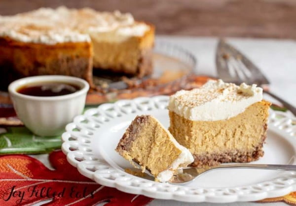 Low Carb, Keto, Gluten-Free, THM S #dessert #cheesecake #recipe