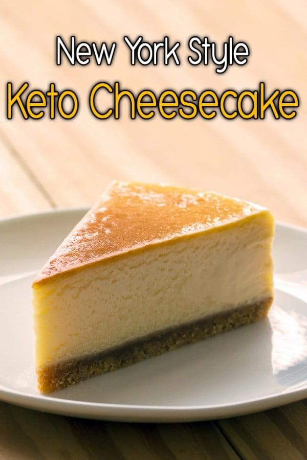 New York Style Keto Cheesecake #dessert #cheesecake #recipe