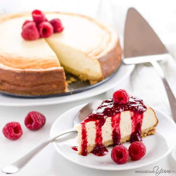 Sugar-Free Keto Cheesecake #dessert #cheesecake #recipe