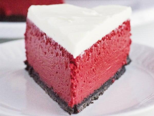 Red Velvet Cheesecake #dessert #cheesecake #recipe