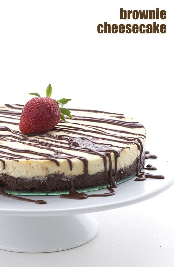 Brownie Cheesecake – Low Carb and Gluten-Free #dessert #cheesecake #recipe