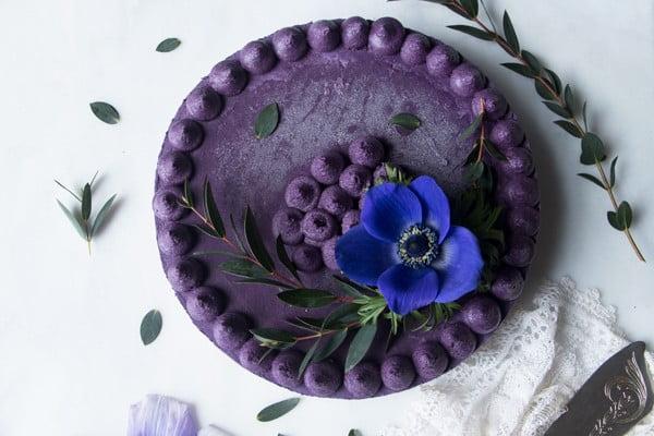 Wild Blueberry Vegan Cheesecake #dessert #cheesecake #recipe