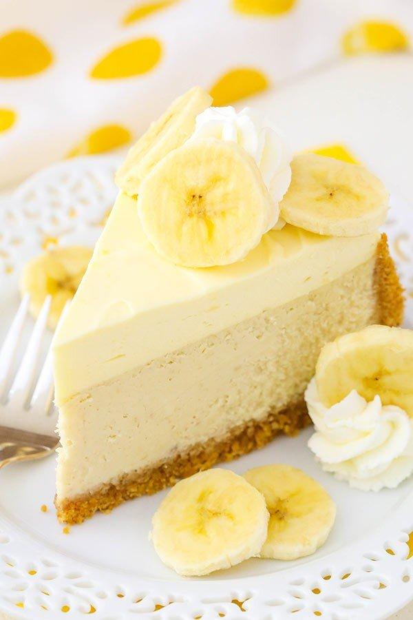 Banana Cream Cheesecake with Bavarian Cream! #dessert #cheesecake #recipe