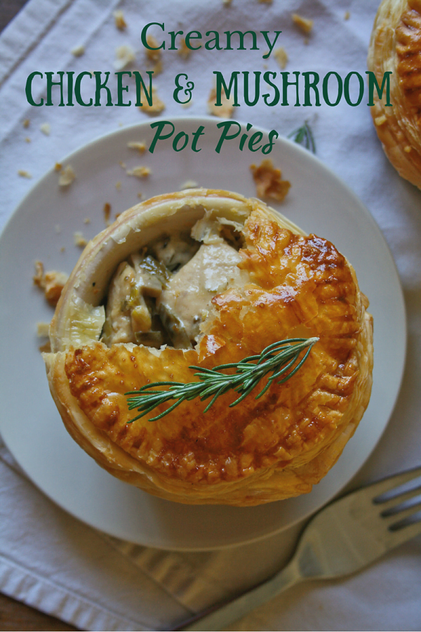 Creamy chicken and mushroom pot pies #potpie #dinner #recipe #food