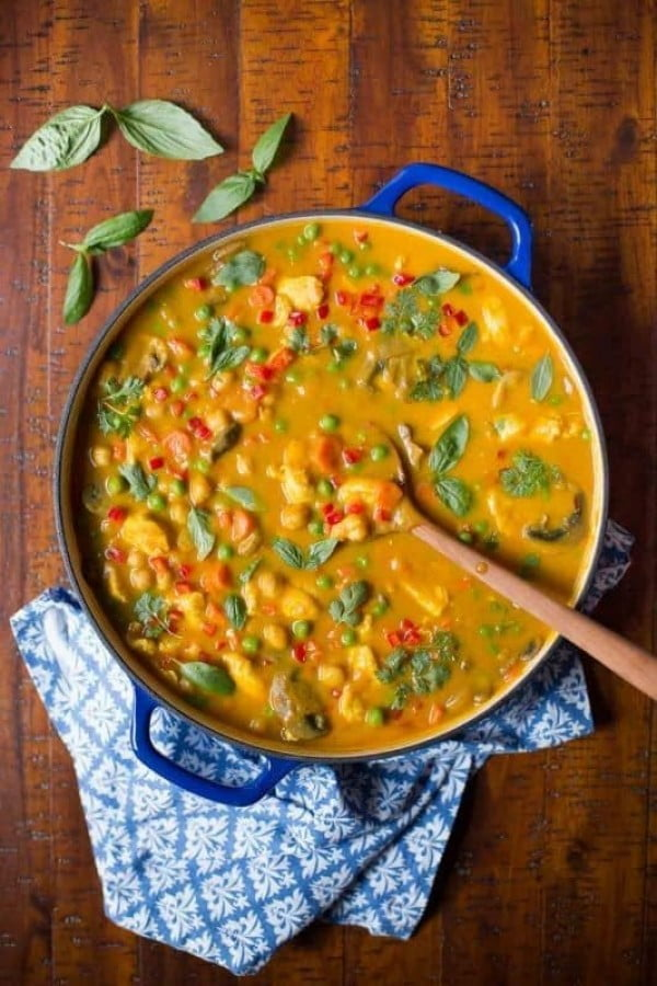 Chicken, Carrot and Chickpea Coconut Curry #chickpea #healthy #dinner