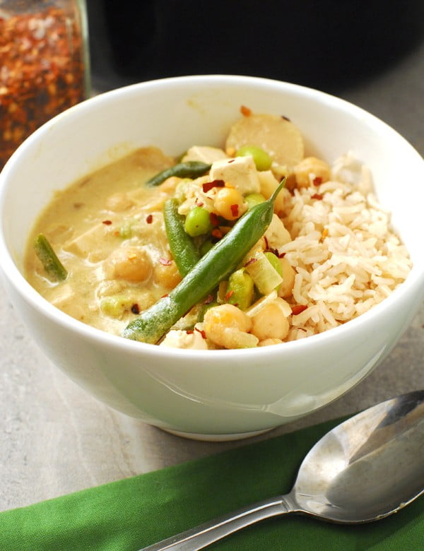 High Protein Vegan Thai Green Curry #chickpea #healthy #dinner