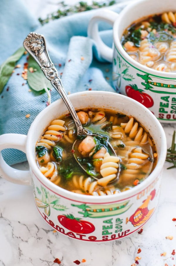 Vegetarian Chickpea Noodle Soup (Instant Pot Recipe) #chickpea #healthy #dinner