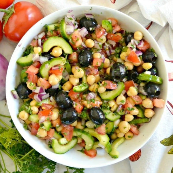 Chickpea Cucumber Salad #chickpea #healthy #dinner