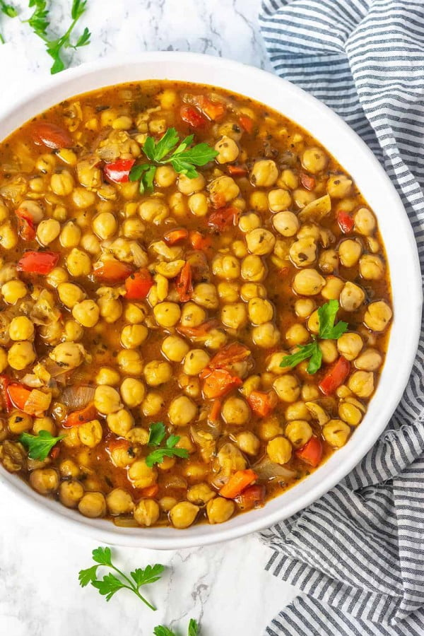 Chickpea Stew (Vegan, Gluten-free) #chickpea #healthy #dinner