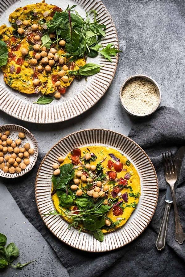 Vegan Chickpea Omelette #chickpea #healthy #dinner