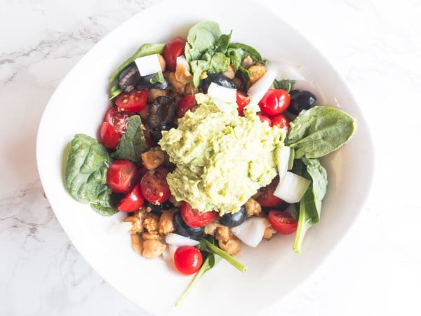 Salsa Verde Chickpea Bowl Recipe #chickpea #healthy #dinner