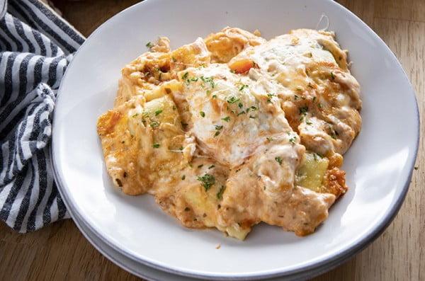 Million Dollar Ravioli Lasagna #comfortfood #food #dinner #recipe