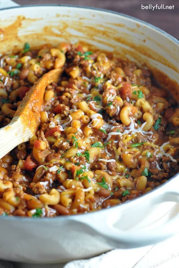 One Pot Chili Mac and Cheese #comfortfood #food #dinner #recipe