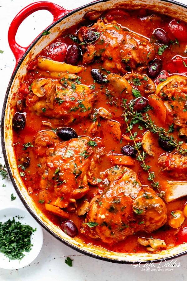 Chicken Cacciatore #comfortfood #food #dinner #recipe