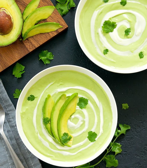 Cream of Avocado Soup #soup #dinner #creamsoup #food #recipe